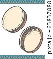 アラブ民族楽器、ダフのイラスト素材 63837888