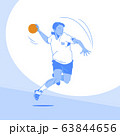 Sports Athletes silhouette illustration 049 63844656