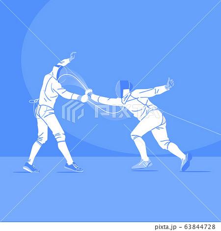Sports Athletes silhouette illustration 044 63844728