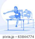 Sports Athletes silhouette illustration 011 63844774