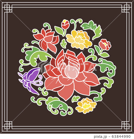the Korean traditional pattern illustration 067 63844990