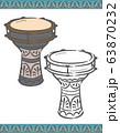 アラブ民族楽器、ダラブッカのイラスト素材 63870232