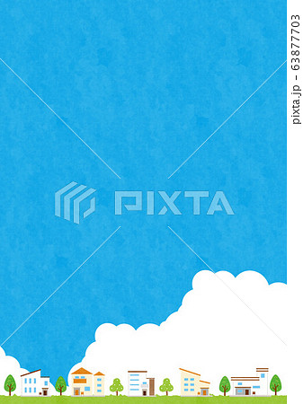 テク背景素材-夏の住宅イメージ5-2 63877703