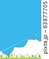 背景素材-夏の住宅イメージ1-2 63877705