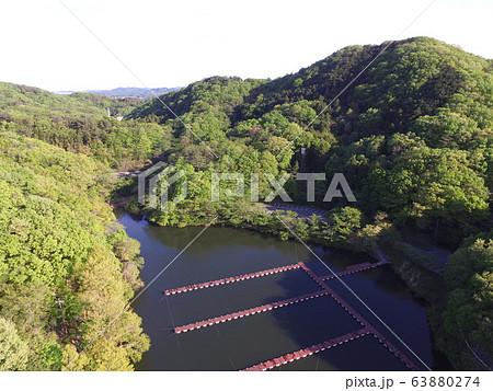 円良田湖(つぶらたこ)〜ドローンで空撮(埼玉県寄居町・美里町) 63880274