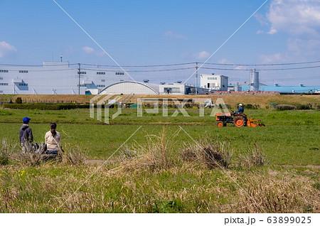 神奈川県平塚市 トラクターと親子 63899025