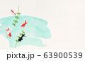 和紙の風合いを感じるイラスト-夏の香り-金魚 63900539