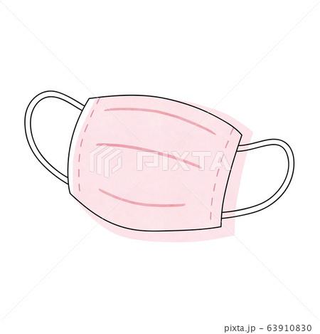 ピンク色のマスク 63910830