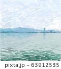 琵琶湖(水彩画) 63912535