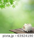 背景-和-和風-夏-蚊取り線香-縁台-紅葉 63924190