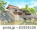 透明水彩画「松代城」 63939106