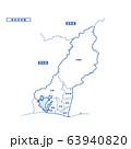 浜松市地図 シンプル白地図 市区町村 63940820