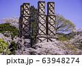 【静岡県】満開の桜に包まれた、韮山反射炉 63948274