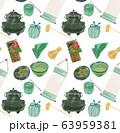 茶道道具パターンイラスト 63959381