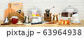 Still life, panorama, with, coffee, grains, cake 63964938