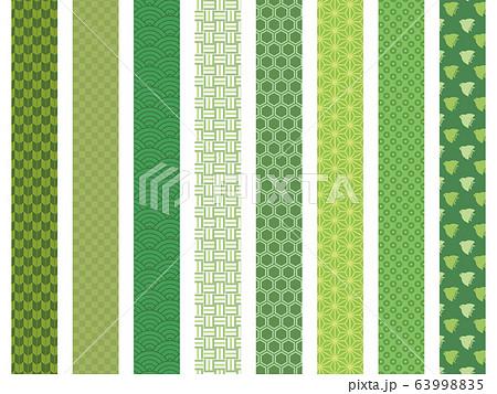 和柄模様 帯 緑 63998835
