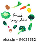 Marker art Vegetables マーカーイラスト野菜セット 64026632