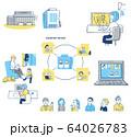 リモートワーク イメージセット 64026783