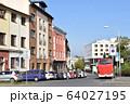 チェコ プルゼニ本駅前の街並み 64027195