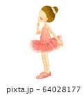 バレエをする子供の水彩風イラスト5 64028177