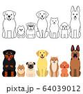 犬たちのグループセット 全身 64039012