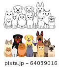 犬と猫のグループセット 全身 64039016