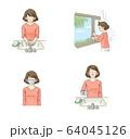 感染予防 うがい・手洗い・換気・マスク セット(女性大人) 64045126