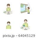 感染予防 うがい・手洗い・換気・マスク セット(男子学生) 64045129