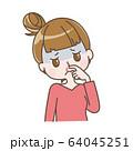 鼻血が出た女性 64045251