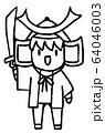 こどもの日の男の子(線画) 64046003
