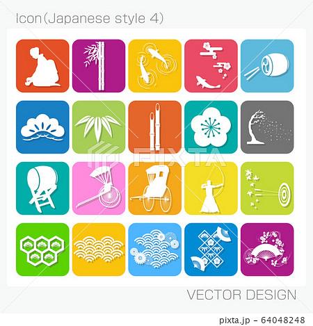 アイコン・和風(Japanese style 3)Vector Design 64048248
