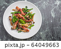 ベーコンと菜の花の炒め物 64049663