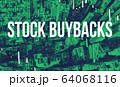 Stock Buybacks theme with aerial view of Manhattan NY skyscrapers 64068116