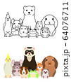 ペットのグループ セット 全身 64076711