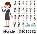 flat type mask business women_emotion 64080982