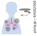 喫煙者(男性)の肺 64082566