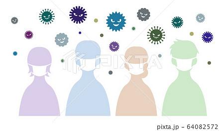 風邪 感染予防 64082572