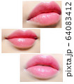 ピンク唇 口紅アップ 64083412