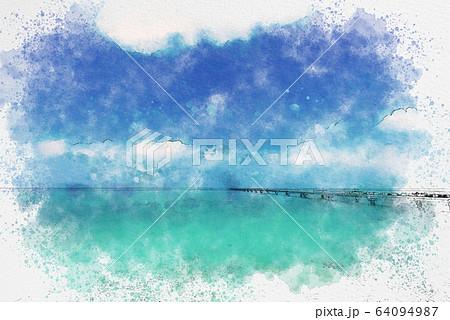 宮古島 伊良部島の海 64094987