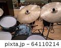 ドラムセットのシンバル(ビンテージ) 64110214