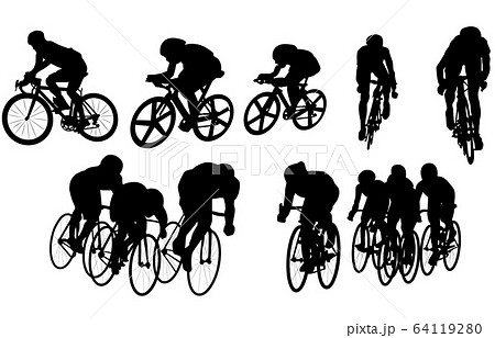 スポーツシルエット自転車 64119280