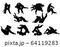 スポーツシルエット柔道 64119283