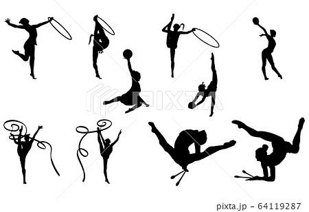 スポーツシルエット新体操 64119287
