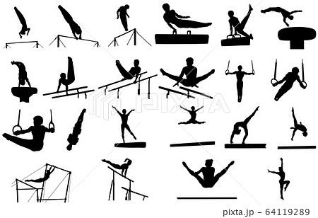 スポーツシルエット体操 64119289