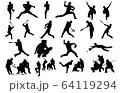 スポーツシルエット野球 64119294
