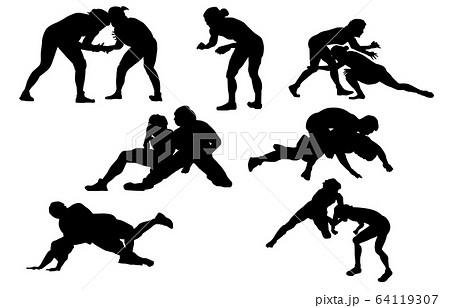 スポーツシルエットレスリング 64119307