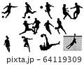 スポーツシルエットサッカー 64119309