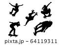 スポーツシルエットスケートボード 64119311