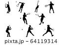 スポーツシルエットテニス 64119314