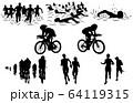 スポーツシルエットトライアスロン 64119315